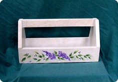 Hand Painted Tool Caddy for Her