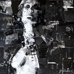 Derek Gores Collage Europe! Painting: Liberate and Fascinate