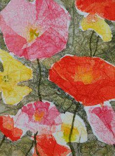 Artwork and Artplay: Poppies Abstracted  Lauren Everett Finn