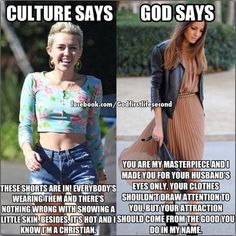 Not to bash on Miley, but this is true. The words are more important than the pictures. And the girl dressed modestly is still ADORABLE!