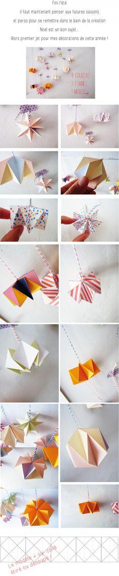 papier, folding paper, étoiles ,pliage, noël,pinpointing