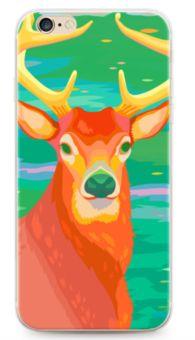 Deer Hemming Oil Painting Illustration Case For Apple iPhone 6/6S