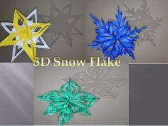 Craft 3D snowflake - YouTube