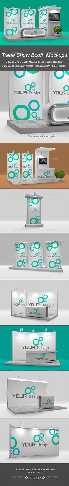 Trade Show Booth Mockup - Signage Print