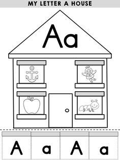 My Letter C House - Part of the Alphabet Adventures Letter C Packet Kindergarten Freebies, Preschool Letters, Learning Letters, Kindergarten Literacy, Kids Learning, Teaching Kids, Alphabet Phonics, Alphabet Crafts, Alphabet Activities