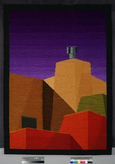 """Mary Cost (USA), """"Skyscape,"""" 53.5"""" x 38.5"""" woven tapestry, ATB 9"""
