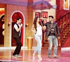 Deepika Padukone and Arjun Kapoor on 'Comedy Nights With Kapil'. #Bollywood #Fashion #Style #Beauty