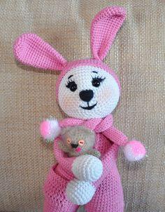 Amigurumi króliczek w piżamie - szydełku wzór
