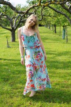 eBook - Nähen - Damen - Shirt/Tunik/Kleid - Maria - Schnittgeflüster - Sommer - Chiffon - Azul - Glückpunkt.