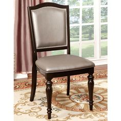 Furniture of America Harllington Leatherette Side Chair (Set of 2)