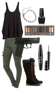 """""""Nillili Mambo Inspired- U-Kwon"""" by mel-is-eating-chocolate on Polyvore featuring Rusty, H&M, NYX, MAC Cosmetics, Urban Decay and OPI"""