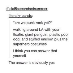 I think we may have a new definition of punk rock, a new, improved, and awesome one! 5sos Memes, 1d And 5sos, Second Of Summer, Luke Hemmings, Derp, Punk Rock, Cool Bands, Youtubers, Tumblr