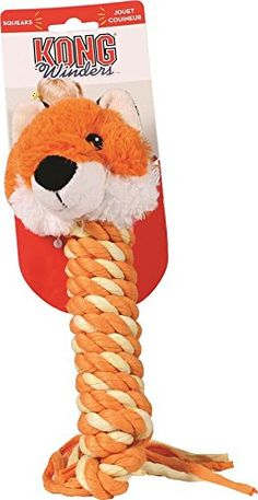 KONG Winder Fox Pet Toy Medium ** Click on the image for additional details.(This is an Amazon affiliate link and I receive a commission for the sales) #DogToyBalls