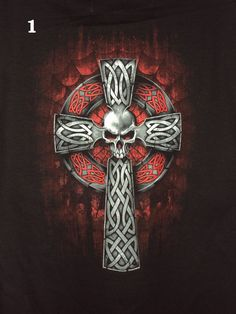 FREE shipping!  Gothic Cross Cotton T-Shirts in sizes up to 4X!  Prices start at only $13.99!