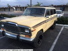 """1981 Jeep Wagoneer  Starts up and runs and drives. It got a brand new driveshaft from company name """"DriveLines Inc"""". Freshly rebuilt transmission. New gas filter. Brand new rims. Clean title with pink slip in hand."""