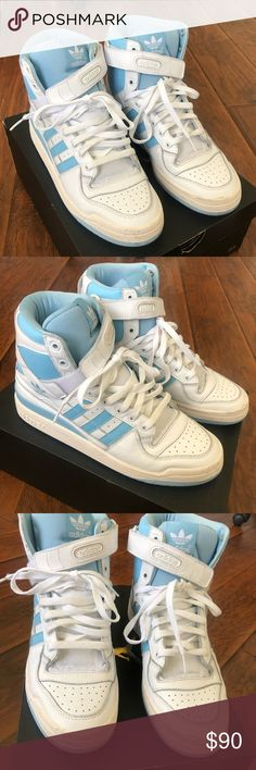 watch 13575 0fe13 Adidas Forum Hi OG Sneakers- White- Mens adidas Forum Hi OG Sneakers-  White- Mens Good condition. Size Us 10 See pics adidas Shoes Sneakers