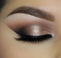 Dramatic and daring yet classic and refined! Click to learn how to recreate this look using Makeup Geek Creme Brulee, Latte, Mocha, and Corrupt eyeshadows along with Afterglow pigment and Immortal gel liner.