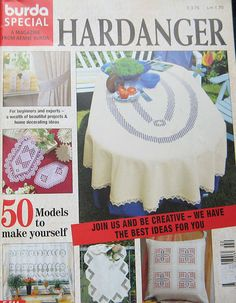 A Warm Welcome to you and thanks so much for stopping by. Up for your consideration today is this fabulous Hardanger Handicraft Series # E 514 Pattern magazine by Burda.Includes 50 gorgeous patterns for you to embroider. This magazine is in good condition. . Please see pictures for more information.    ***I AM HAPPY TO SHIP TO OTHER COUNTRIES, PLEASE EMAIL ME FOR RATES***    I take care in your purchases, my home is a clean, non-smoking environment. Please email me with any questions…