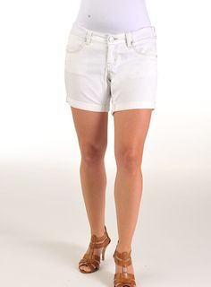 Pumpkin Patch - shorts - white denim shorts - S2MT50004 - white - xs to xlarge
