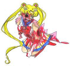 silor moon Zombie Cartoon Characters   Zombie Evangelion(Asuka and Shinji)
