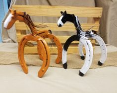 Horseshoe Art Piglet Statue Garden Art by Whoagirldesigns on Etsy
