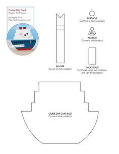 Free Cruise Ship pattern/template