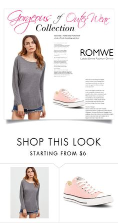 """""""romwe"""" by sanjavar ❤ liked on Polyvore featuring Converse"""