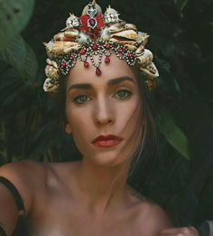Crown of the Lady of the Indian Ocean Mermaid Crown, Mermaid Princess, Shell Crowns, Seashell Crown, Circlet, Bridal Crown, Tiaras And Crowns, Hair Jewelry, Goth Jewelry