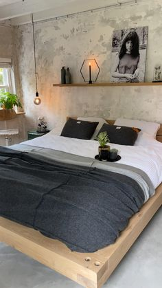 Room Ideas Bedroom, Home Decor Bedroom, Bedroom Furniture, Garage Bedroom, Bedroom Inspo, Home Room Design, Home Interior Design, Industrial Bedroom Design, Industrial Apartment