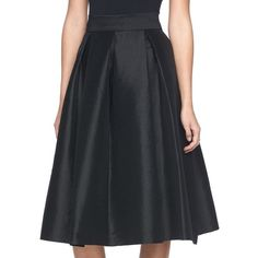 Women's Ronni Nicole Pleated Taffeta Skirt ($65) ❤ liked on Polyvore featuring skirts, black, knee length pleated skirt, taffeta skirt, pleated skirt and ronni nicole