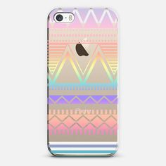 Cotton Candy Rainbow Tribal Transparent  - New Standard Case