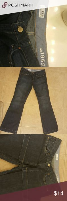 Gap 1969 Jeans Great condition, dark wash Gap jeans! No stains or rips! Bootleg cut. Quality jeans! GAP Jeans Boot Cut