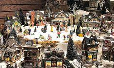 Olde World Canterbury Village's Department 56 - Original Snow Village Series Display.  Olde World Canterbury Village 2369 Joslyn Ct. Lake Orion, MI 48360  Phone: (248) 391-5700 www.CanterburyVillage.com