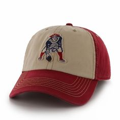 f68c635e68eaa New England Patriots 47 Brand NFL Yosemite Vintage Wash Adjustable Hat - Red