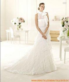 Elegante Brautkleider aus Chiffon im Meerjungfrauenstil mit kurze Ärmel 2013