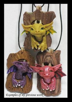 Custom made to order OOAK  Dragon Polymer Clay by KabiDesigns, $35.00