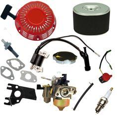 NEW HONDA GX240 RECOIL CARBURETOR IGNITION COIL SPARK PLUG AIR FILTER GAS CAP