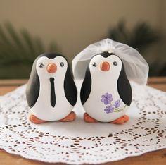 Wedding Cake Topper - penguins! Too cute !