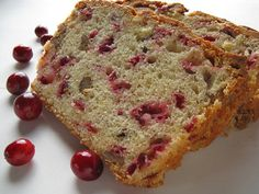 cranberry bread very good, I would increase walnuts to and serve with cranberry honey butter YUMMY Cranberry Nut Bread, Cranberry Recipes, Bread Recipes, Low Carb Recipes, Easy Recipes, Vegan Recipes, Butter Recipe, Quick Bread, Breads