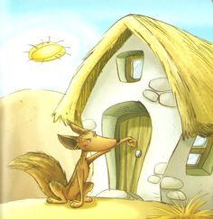 Mientras tanto el Lobo Flaco había llegado a la casa de la Abuela y golpeó la puerta. _Toc, Toc. _¿Quién es?