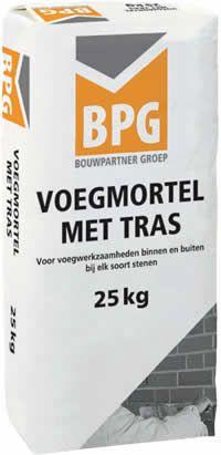BPG Voegmortel met Tras voorkomt kalkuitbloeingen