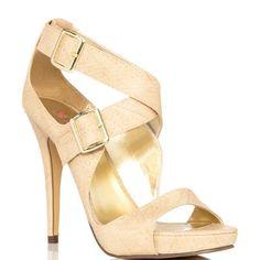 JustFab's Beige Maria - 59.99  heels.com