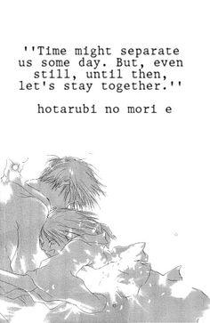 Hotarubi No Mori E This Moviethis Damn Horrible Beautiful Amazing Movie Sad Anime QuotesManga