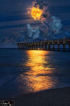 A path of Harvest Moon light ......
