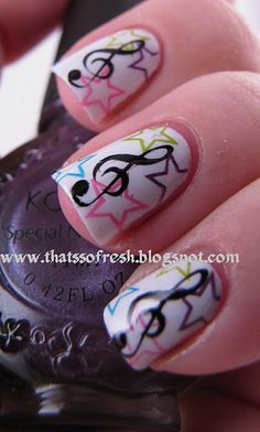 Music Note Nails-neat!