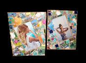 Shimmer... Pretty Little Things tropical theme mixed media frames