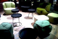 3) Immer noch im #Trend: #Grüntöne und türkisfarbene #Pastelltöne - wie hier bei Rolf Benz... // Still in the mood for #green and #turquoise #pastel #tones - like here at Rolf #Benz.... #WOWWednesday ©JOI-Design #milandesignweek — hier: Isaloni 2015 Milano.