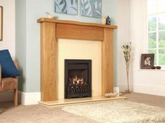 Richmond, Gas Fire, Black Fascia, Coal Fuel Bed