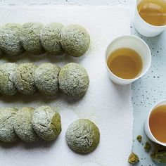 Matcha Tea Cake Cookies | These delicate cookies are made with oil, so they're moist and tender. Matcha gives them a light, toasty flavor and turns them a pretty green.