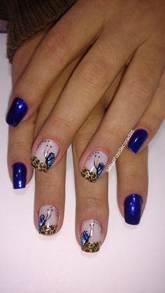50 Fotos de Unhas Azuis Really Cute Nails, Pretty Toe Nails, Cross Nails, Grey Nail Designs, Colorful Nail Art, Valentine Nail Art, Blue Acrylic Nails, Modern Nails, Girls Nails